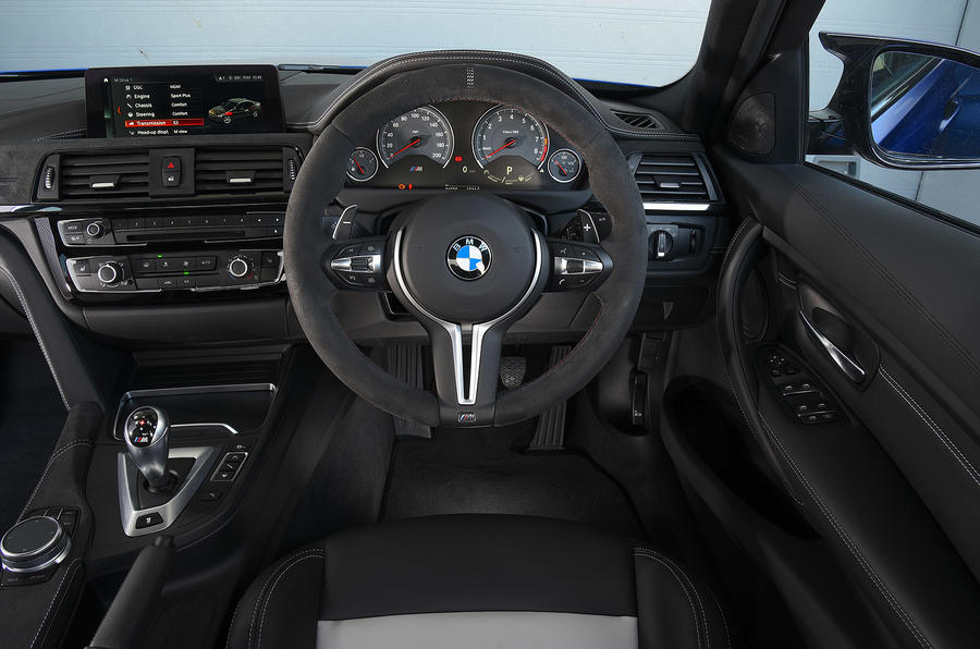 BMW M3 CS 2018 UK first drive review dashboard
