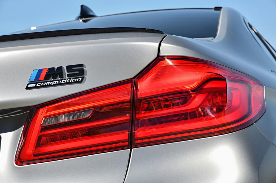 BMW M5 Competition 2018 first drive review rear lights