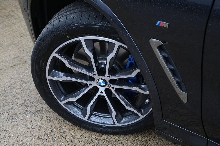 BMW X3 M40i 2018 UK review alloy wheels