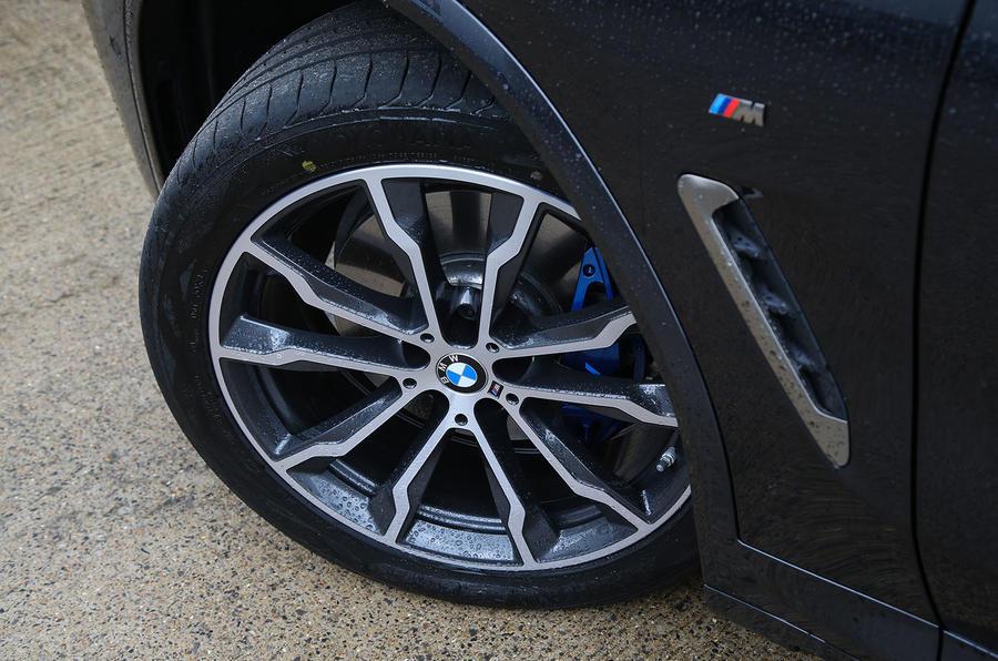 BMW X3 M40i 2018 UK review alloy wheels