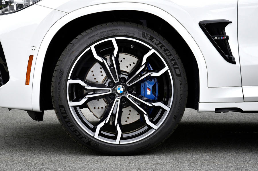 BMW X3 M Competition 2019 first drive review - alloy wheels