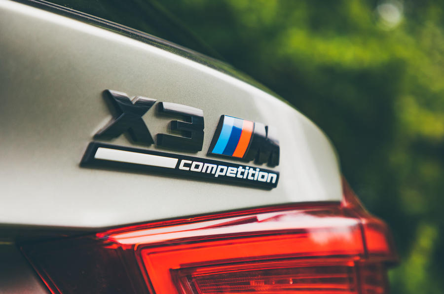 BMW X3 M Competition 2019 UK first drive review - rear badge