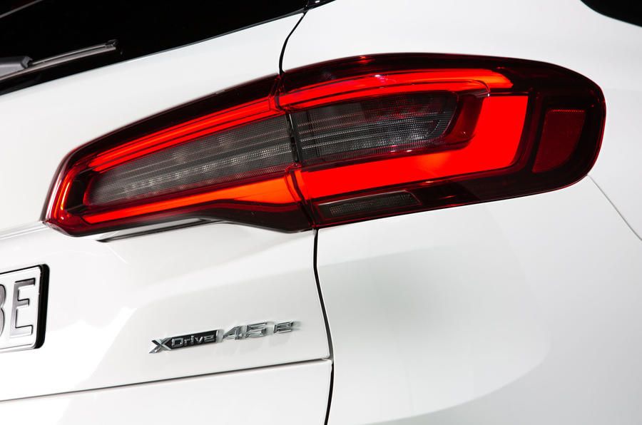 BMW X5 xDrive 45e 2019 first drive review - rear lights
