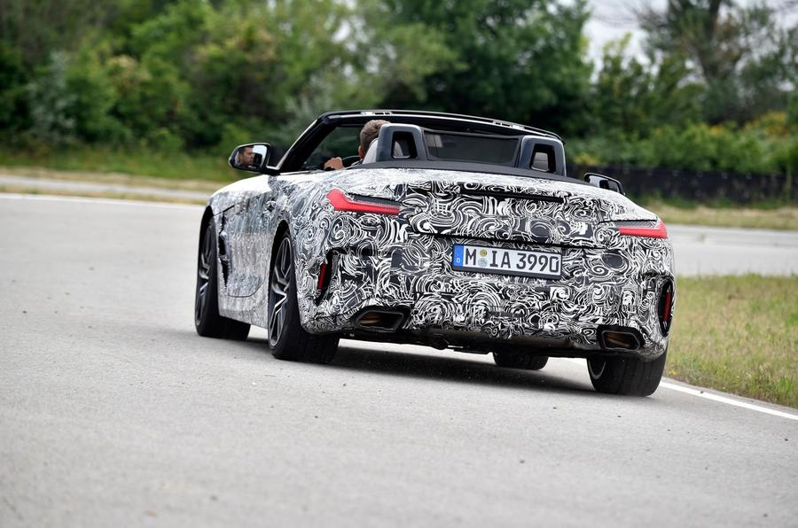 BMW Z4 prototype drive 2018 cornering rear
