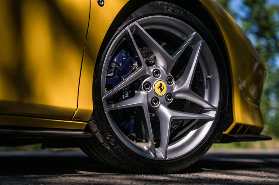 Ferrari F8 Tributo Spider 2020 UK first drive review - alloy wheels