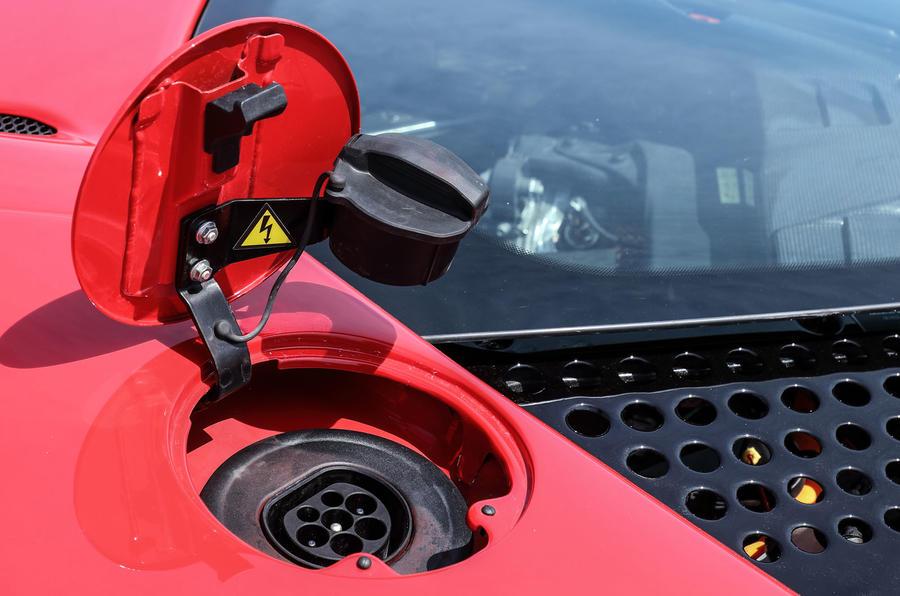 Ferrari SF90 Stradale 2020 first drive review - charging port