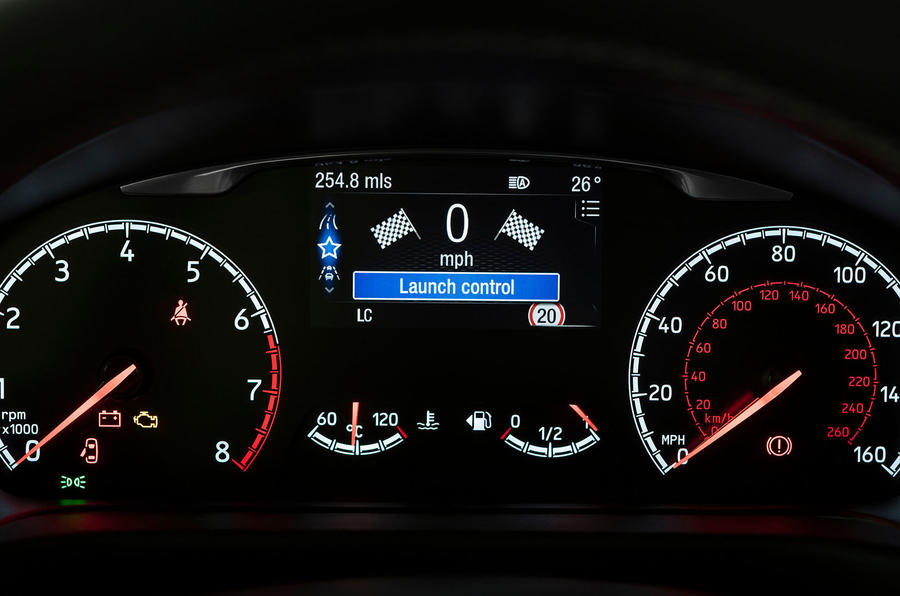 Ford Fiesta ST 2018 UK first drive review instrument cluster