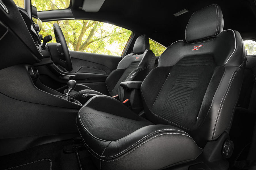 Ford Fiesta ST Performance 2019 first drive review - front seats