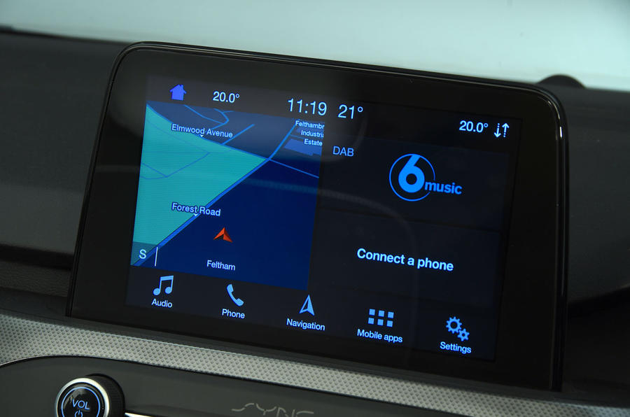 Ford Focus 1.0 Titanium X 2018 UK first drive review infotainment