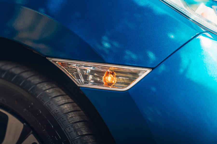 Honda Civic saloon 2018 UK first drive review side lights