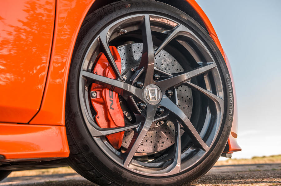 Honda NSX 2019 UK first drive review - alloy wheels