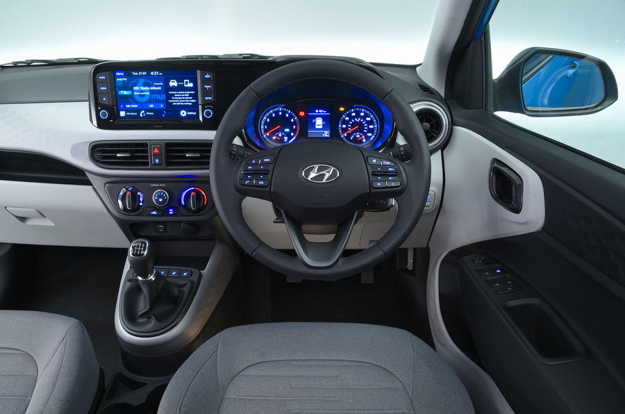 Hyundai i10 2020 UK first drive review - dashboard