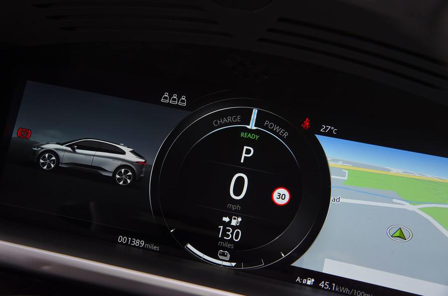 Jaguar I-Pace EV400 UK first drive review instrument cluster