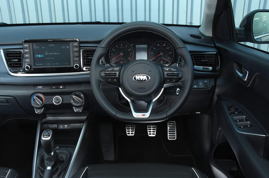 Kia Rio GT Line 2018 UK first drive review dashboard