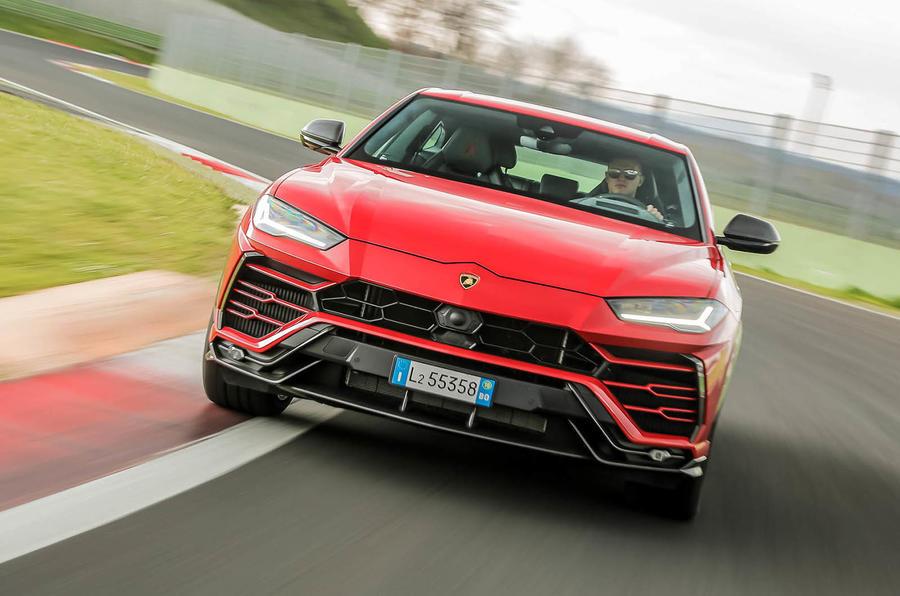 Lamborghini Urus review 2018 track front