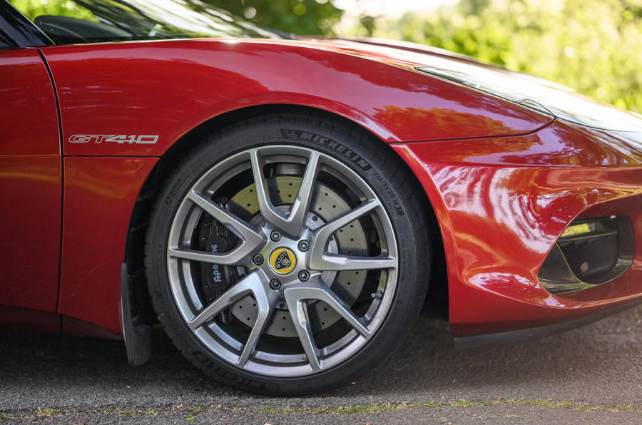 Lotus evora GT410 2020 UK first drive review - alloy wheels