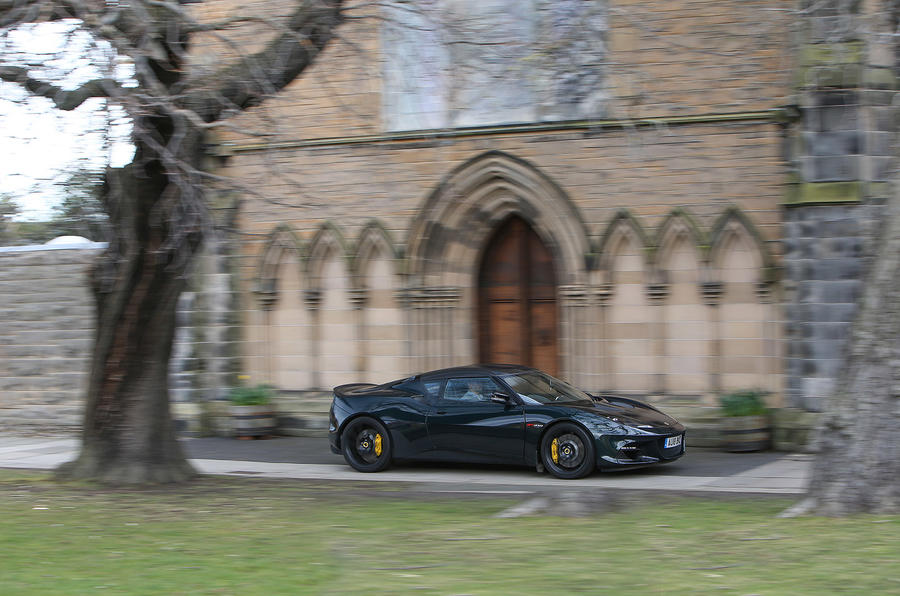 Lotus Evora GT410 Sport 2018 UK review on the road side