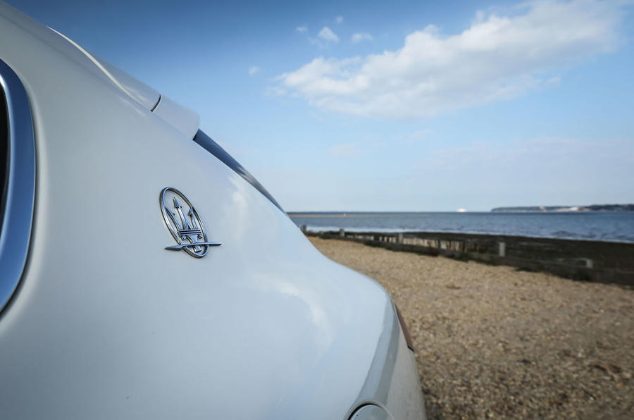 Maserati Levante Gransport 2018 UK first drive review rear quarter panel