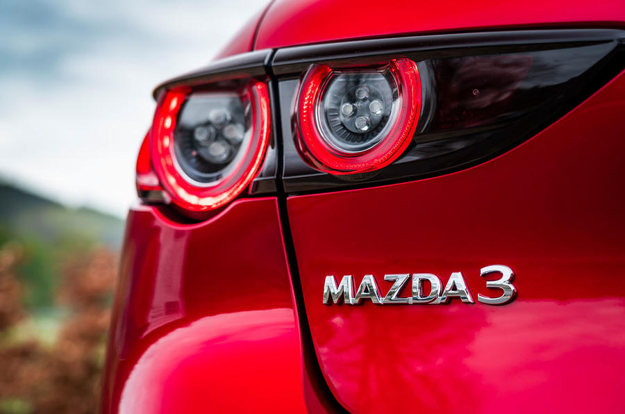 Mazda 3 2019 UK first drive review - rear lights
