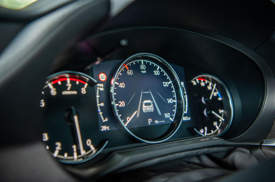 Mazda 6 2018 first drive review instrument cluster