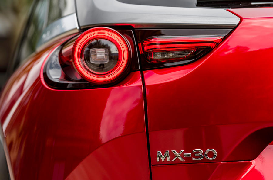Mazda MX-30 2020 UK first drive review - rear lights