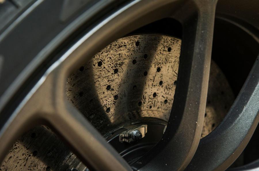 McLaren 570S Spider Track Pack 2018 UK review brake discs
