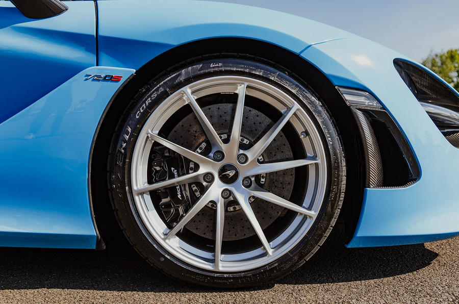 McLaren 720S Spider 2019 UK first drive - alloy wheels