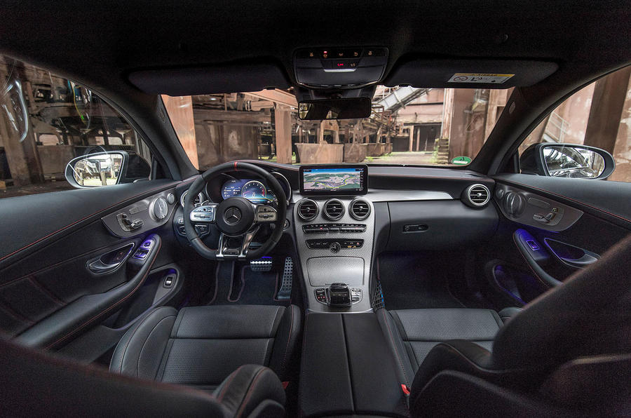 Mercedes-AMG C43 2018 first drive review cabin