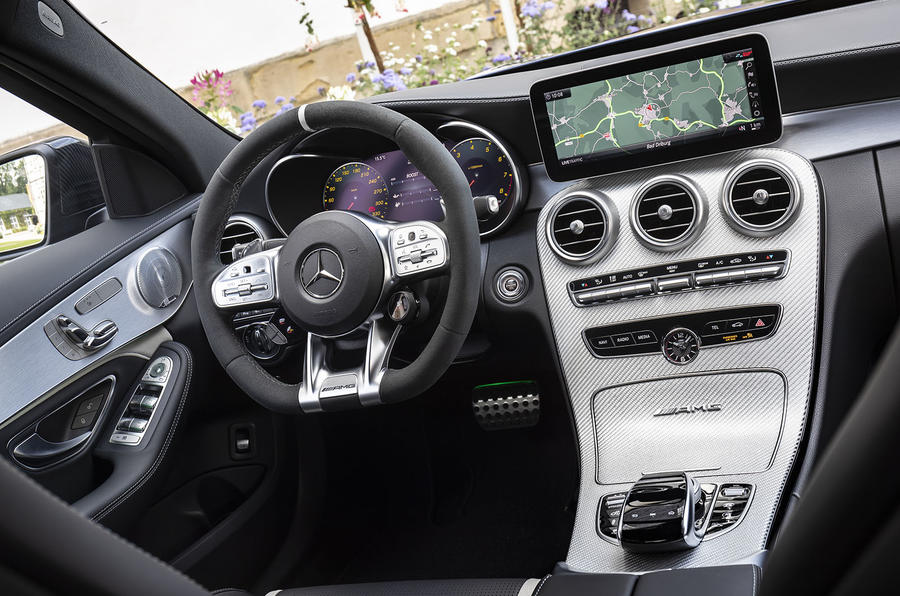 Mercedes-AMG C63 2018 first drive review dashboard