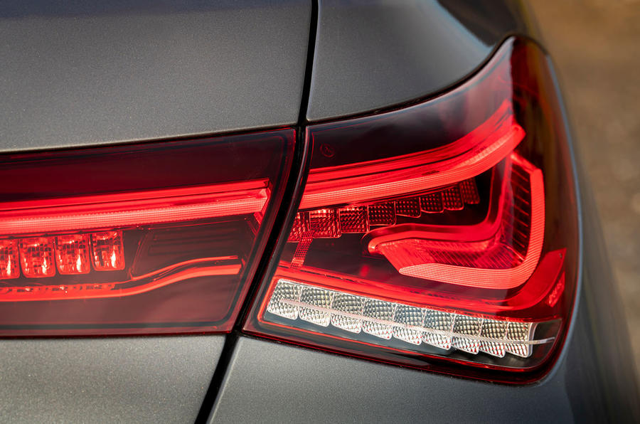 Mercedes-AMG CLA 45 S Shooting Brake 2020 UK first drive review - rear lights