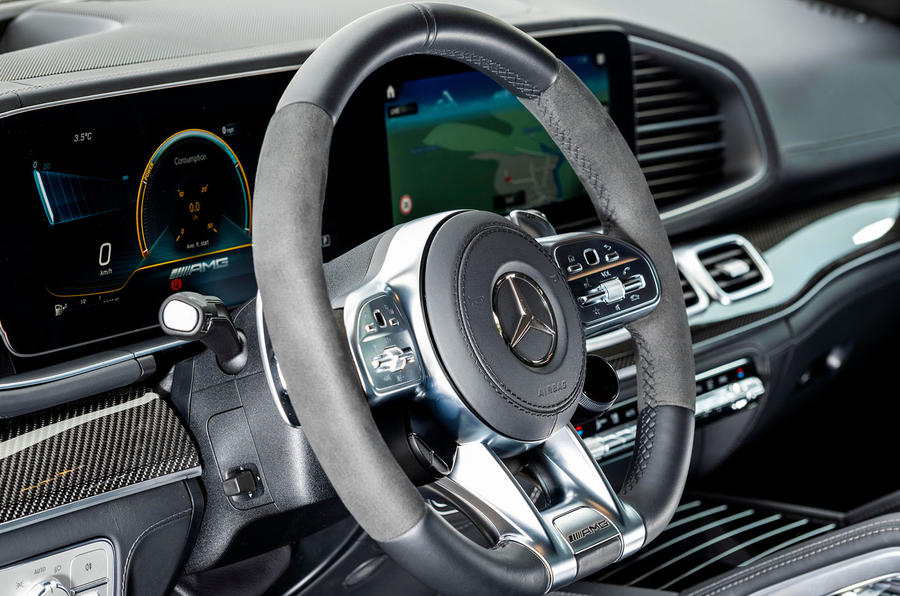 Mercedes-AMG GLE 53 2020 first drive review - steering wheel