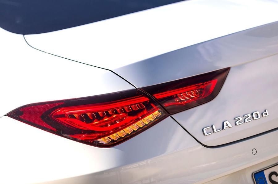 Mercedes-Benz CLA 2019 first drive review - rear lights