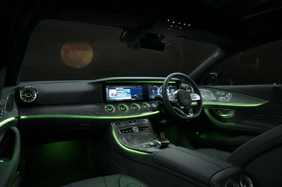 Mercedes-Benz CLS 450 2018 UK review interior lighting