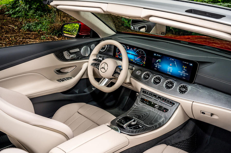 Mercedes-Benz E-Class e450 Cabriolet 2020 UK first drive review - cabin