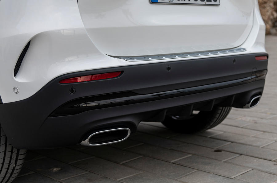 Mercedes-Benz GLA 2020 UK first drive review - exhausts