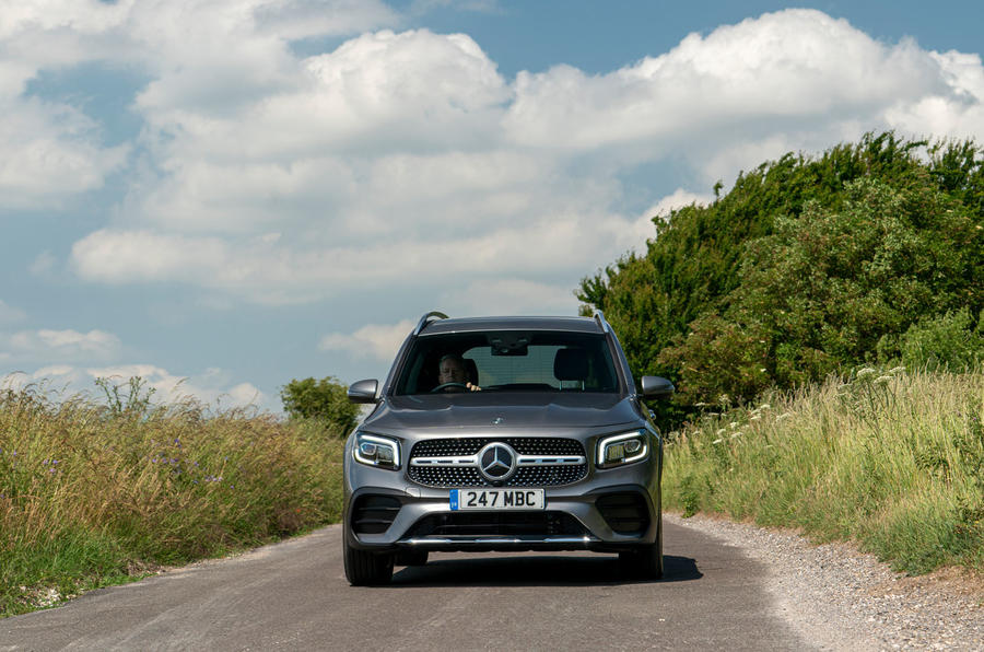 Mercedes-Benz GLB 2020 UK first drive review - on the road front
