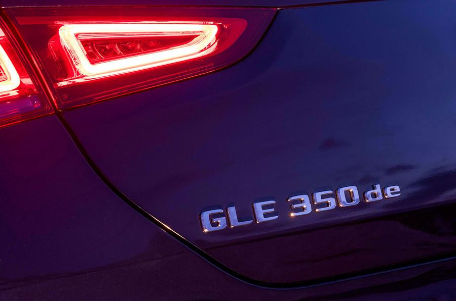 Mercedes-Benz GLE 350de 2020 first drive review - rear badge