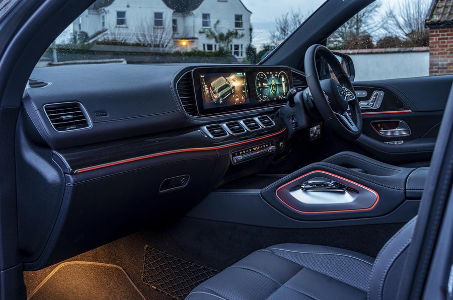 Mercedes-Benz GLS 400d 2019 UK first drive review - cabin