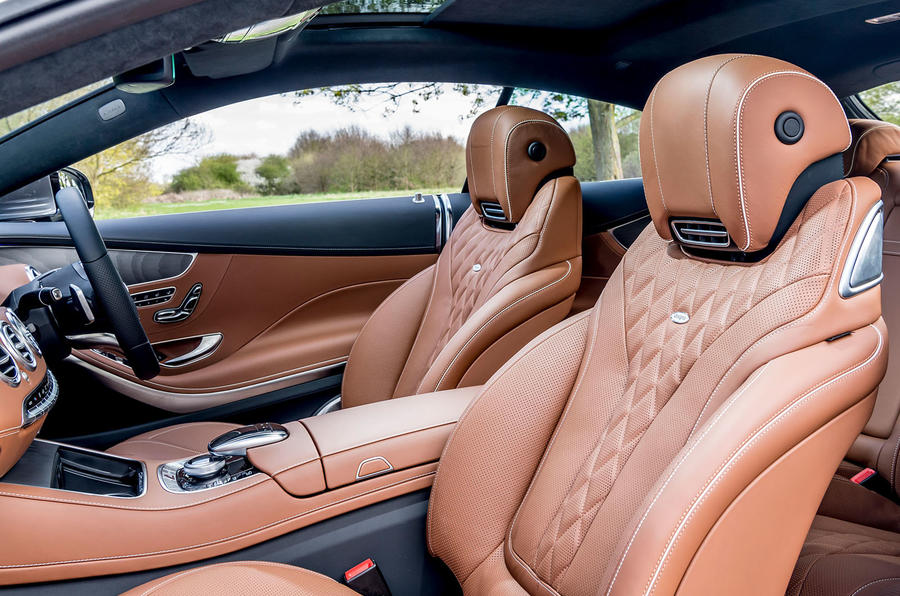 Mercedes-Benz S560 Coupe 2018 UK review front seats
