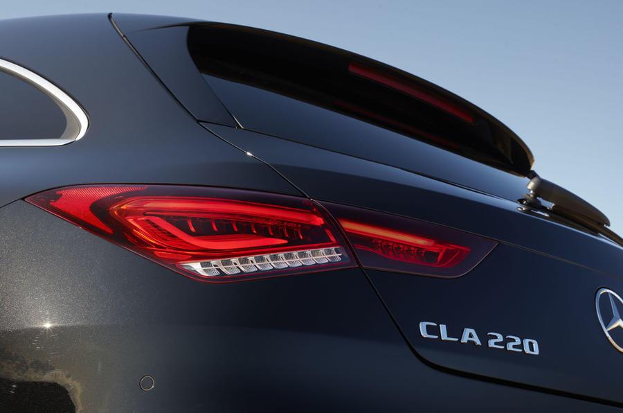 Mercedes-Benz CLA Shooting Brake 220d 2020 UK first drive review - rear lights
