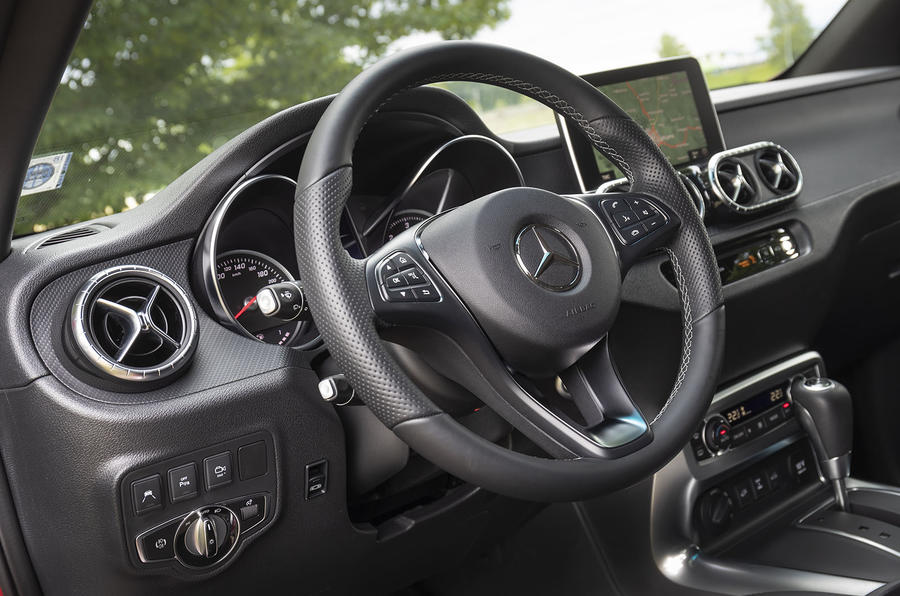 Mercedes-Benz X-Class X350d 2018 first drive review steering wheel