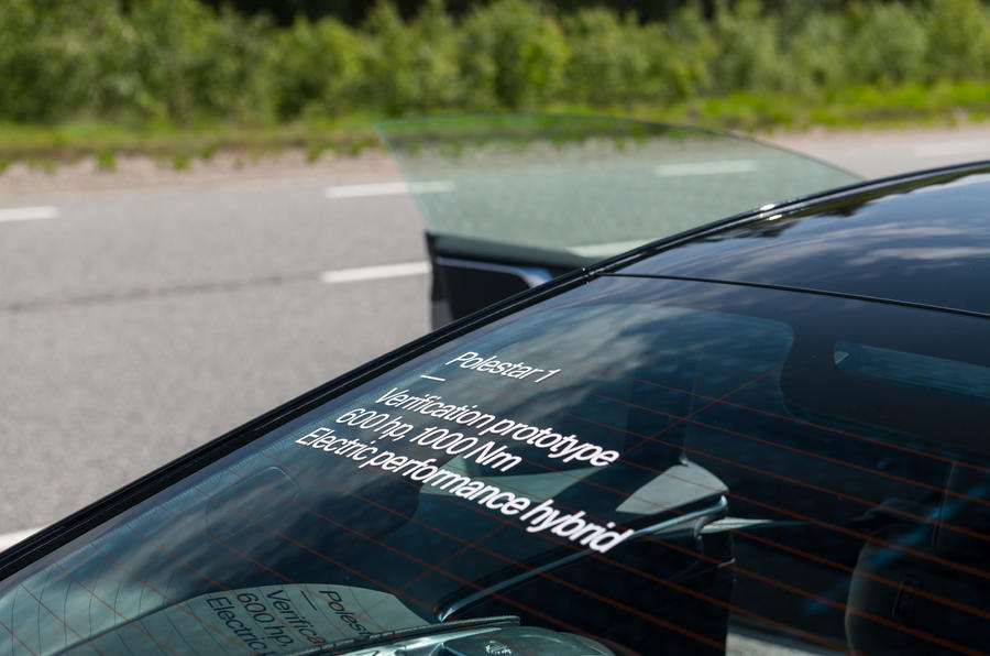 Polestar 1 2019 first drive review - window decals