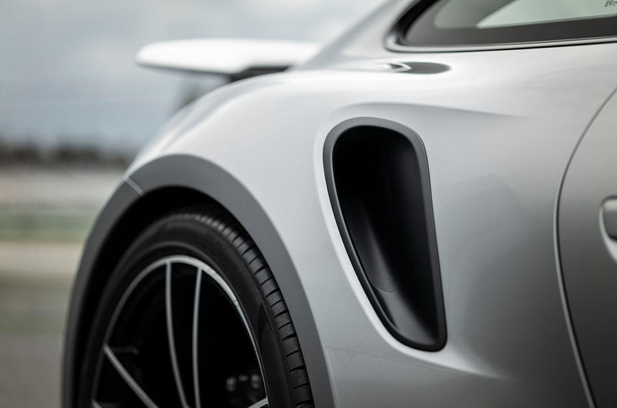Porsche 911 Turbo S 2020 first drive review - air intake