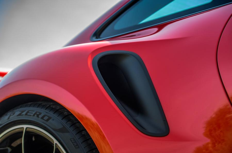Porsche 911 Turbo S 2020 UK first drive review - rear arch