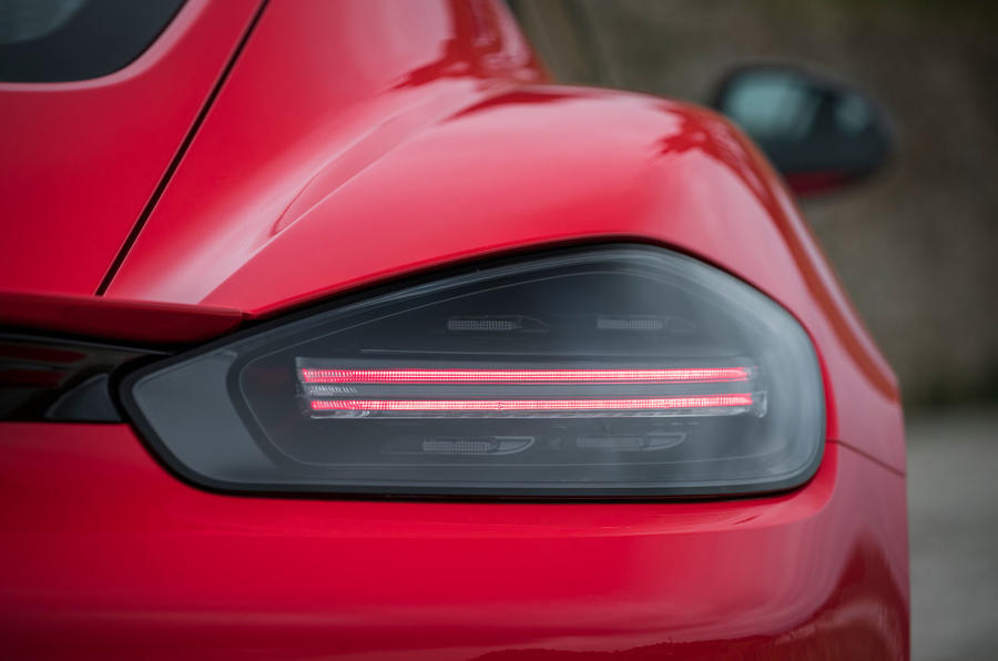 Porsche Cayman T 2019 first drive review - rear lights