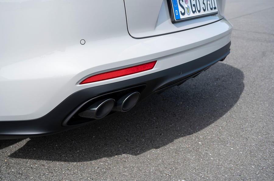 Porsche Panamera GTS Sport Turismo 2020 first drive review - exhausts