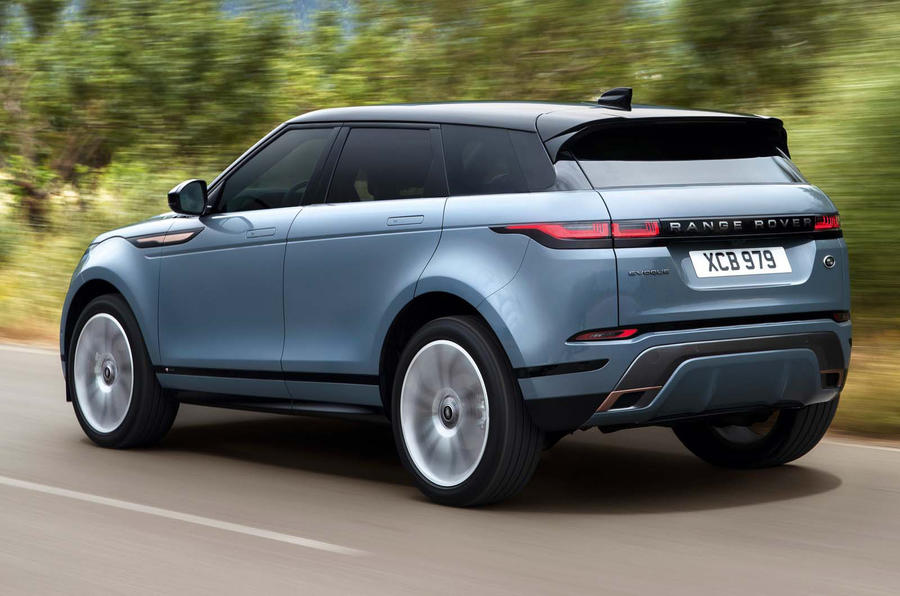 2019 range rover evoque revealed with new tech and mild hybrid powertrain autocar. Black Bedroom Furniture Sets. Home Design Ideas