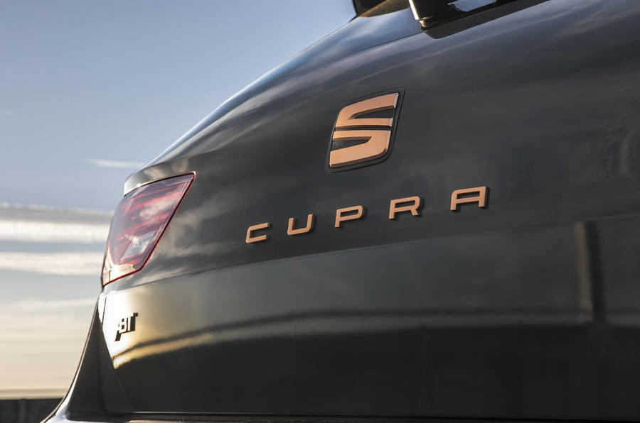 Seat Leon Cupra R ST Abt 2019 UK first drive review - rear badge