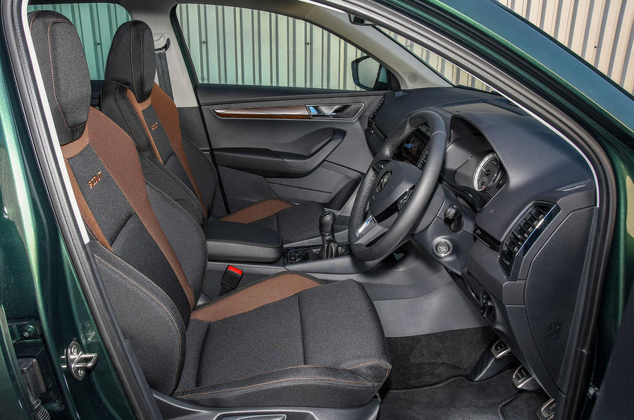 Skoda Karoq Scout 2019 first drive review - cabin