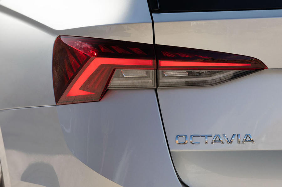 Skoda Octavia estate 2020 UK first drive review - rear lights